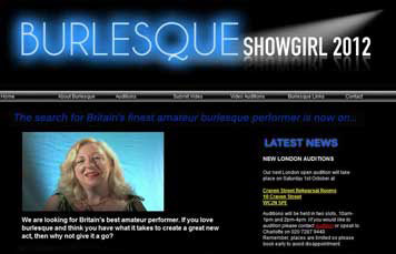 Burlesque Showgirl website