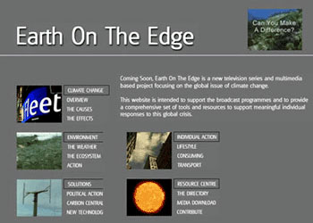 Earth On The Edge website