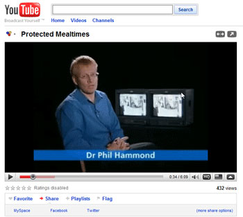 Protected Mealtimes You Tube